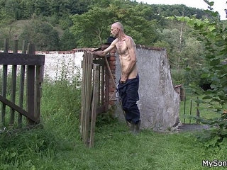 Oldman pleases sons gf outdoors