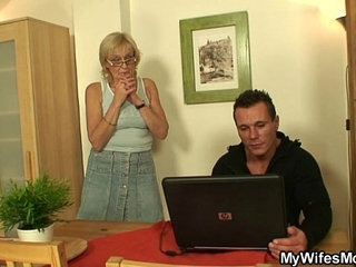 She enjoys sucking and riding her son in laws cock
