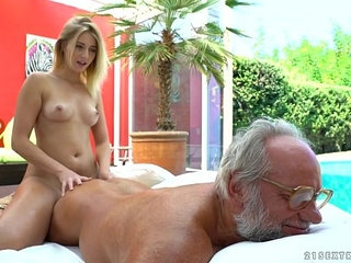 Aria Logan and her much older friend Grandpas Fuck Teens