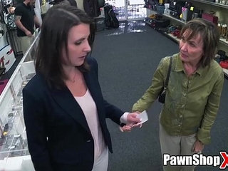 Argument in Pawn Shop Gets Settled with Hardcore Sex