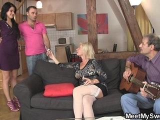 Sweetie gets lured into threesome by her BFs parents