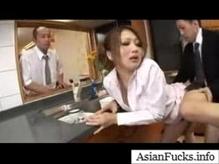 Asian in a Maid Cosplay Takes a Load in Her Mouth, Pussy and Ass