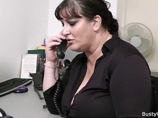 Fat secretary blowjob and office fuck