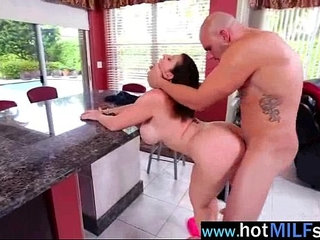 Sex tape on huge monster dick with horny milf sara jay clip