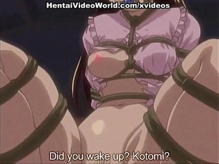 Hardcore hentai sex with strap
