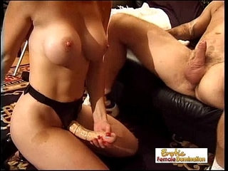 Bossy Cougar Pegs Her Man With A Big Strap